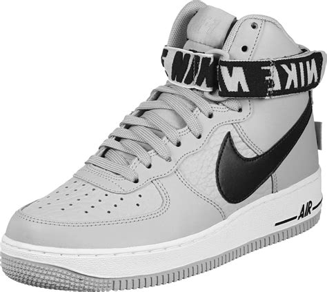 nike air force  high  shoes grey black