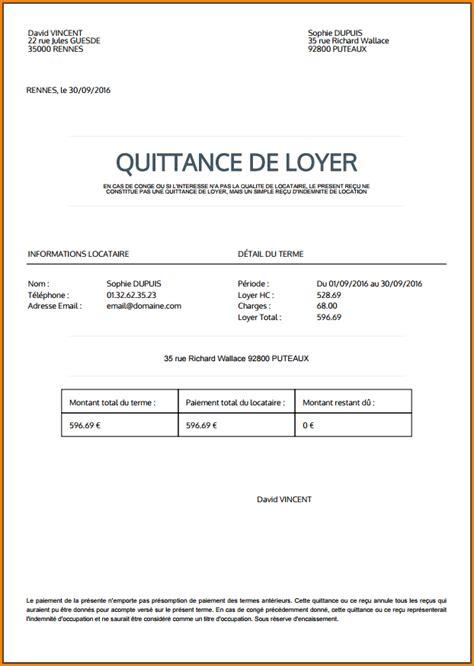 Lettre Demande De Quittance 5 exemple de quittance de loyer lettre de demission