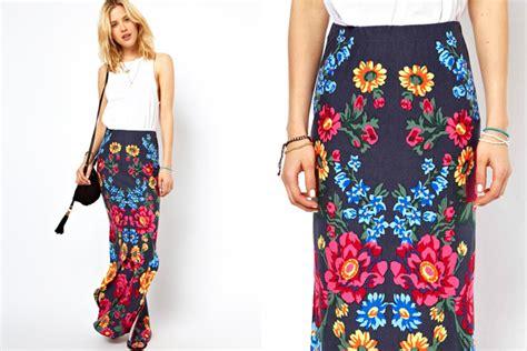 best floral print maxi skirt photos 2017 blue maize