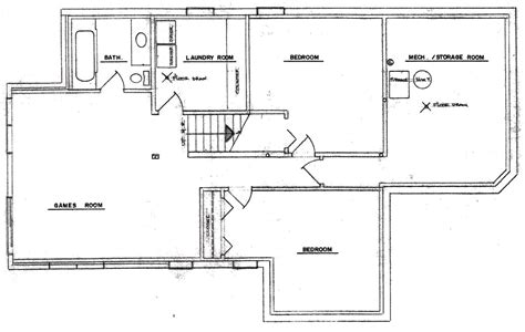 free house plans with basements finished basement floor plans home design ideas