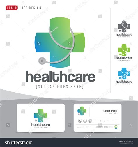 business card clean template design illustrator logo design healthcare or hospital and business
