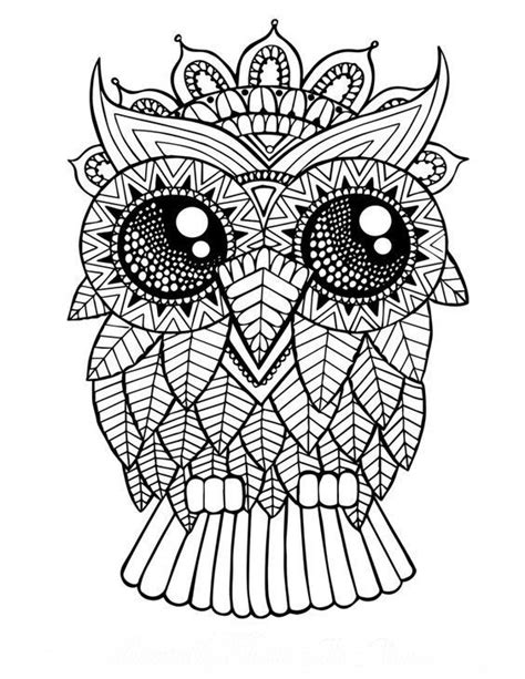 Galerry coloring pages mandala owl