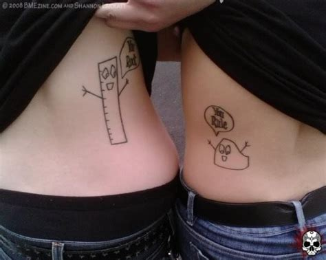 husband and wife matching tattoos sketch couples tattoos on hip