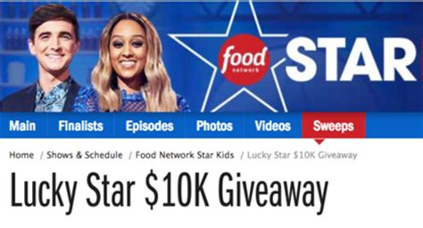 Food Network Giveaway - food network lucky star 10k giveaway sun sweeps