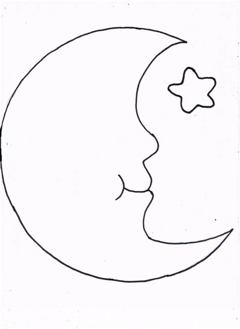 And Moon Template crescent moon coloring page printable coloring pages