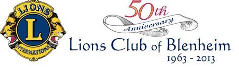 Blenheim Lions 50th Logo Aspire Design Lions Club Letterhead Template
