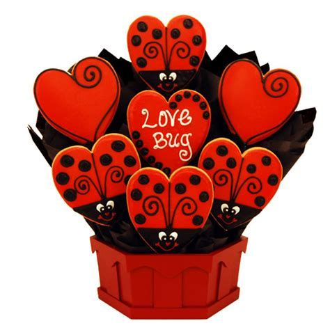 Love Bug Cookie Bouquet   Cookies by Design