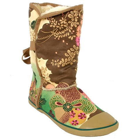 Sugar Origami Boots - sugar sugar origami fur lined boot asian floral