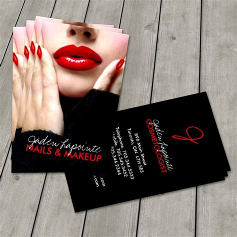 makeup business cards templates 92 best images about makeup artist business cards on