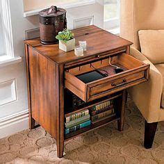 side table with swing out desk lots of seating with laptops in mind side table with