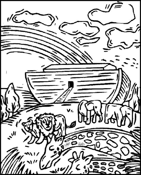 coloring pages noah s ark noah and the ark coloring pages coloring home