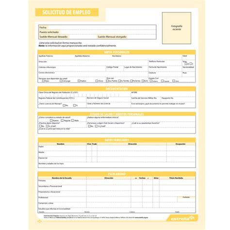 Carta De Solicitud De Empleo Para Que Sirve Compra Block Solicitud De Empleo Estrella Tama 209 O Carta De
