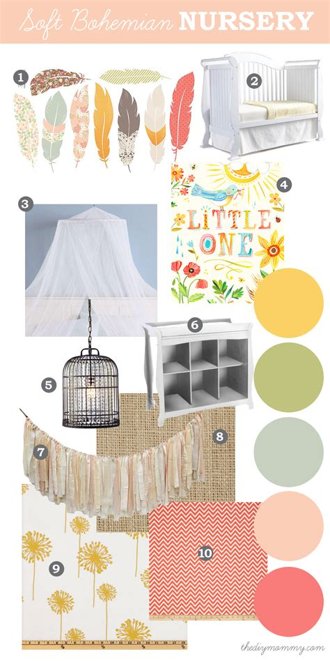 Birdcage Wall Stickers mood board a soft bohemian nursery baby days at sears