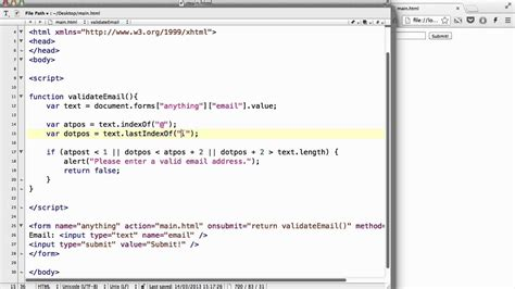 javascript pattern for email validation javascript 44 simple form email validation youtube