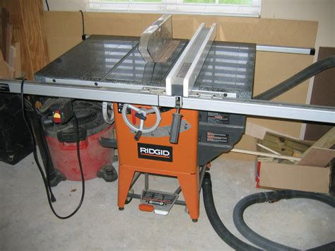 Ridgid Table Saw Review by Review Ridgid 4511 Granite Table Saw Really Saw At