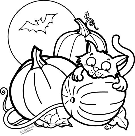 coloring page halloween cat halloween color pages free icolor quot little kids halloween