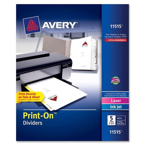 avery avery customizable print on dividers ld products