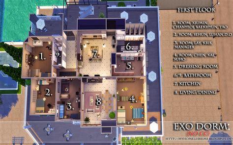 exo dorm the sims 4 request exo dorm no cc homeless sims