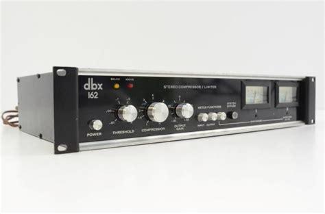 Dbx 160a Original dbx 162 original vintage vu compressor limiter reverb