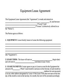 equipment lease contract template equipment lease agreement equipment lease purchase