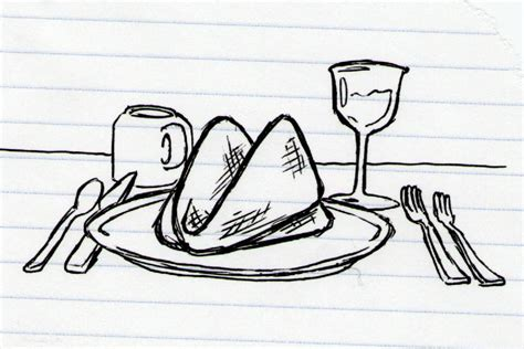 1 Drawing Per Day by Doodle 916 Fancy Dinner Doodle A Day