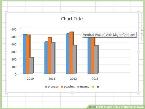 how to add titles to charts in excel 2016 2010 in a minute how to add titles to graphs in excel 8 steps with pictures