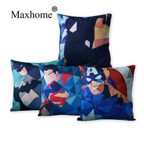 batman sofa abstract marvel heros cotton linen pillowcase creative pop