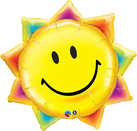 Balon Foil Sun Smile Rainbow smile wholesale balloon shape