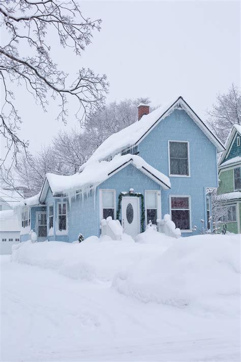 kostenlose foto schnee winter haus zuhause st 228 dtisch eis h 252 tte wetter usa amerika