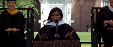 mindy kaling graduation speech mindy kaling shares practical and inspirational advice