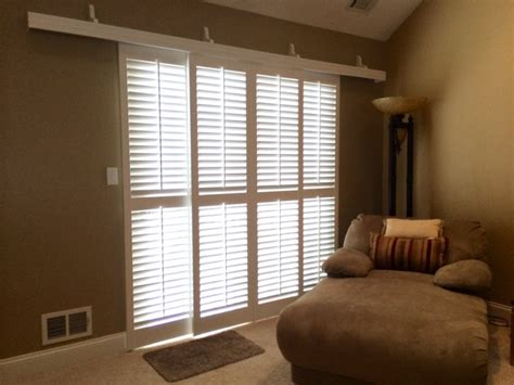 plantation shutters for sliding patio doors