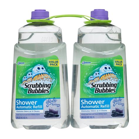 automatic bathtub cleaner scrubbing bubbles 34 oz automatic shower cleaner refill