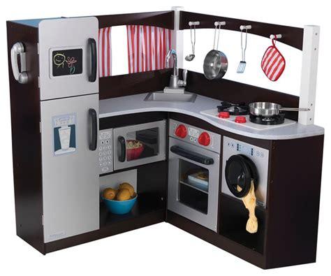 Kidkraft Corner Kitchen Espresso by Kidkraft Cooking Pretend Play House Grand Espresso