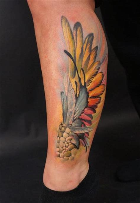 tattoo 3d feather leg feather tattoo by grimmy 3d tattoo
