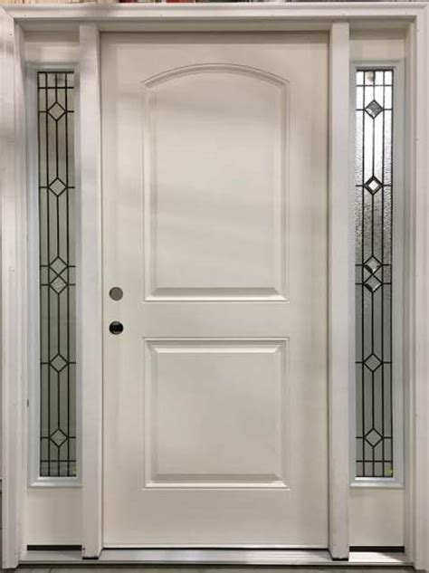 Fiberglass Entry Door With Deco Sidelites Home Center Outlet Exterior Door Outlet