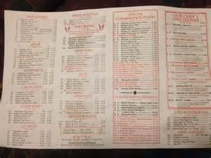 number 1 kitchen menu menu for number 1 kitchen west