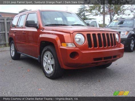 orange jeep patriot sunburst orange pearl 2010 jeep patriot sport