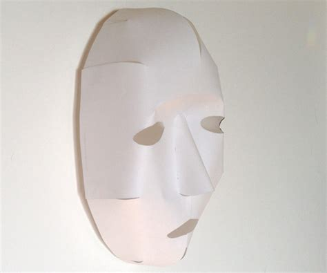 Mask With Paper - easy 3d paper mask from a single sheet of paper