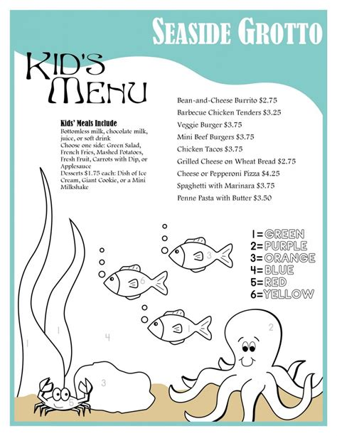 kid menu template design of the week menu musthavemenus