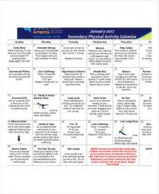 activities calendar template activity calendar templates 9 free pdf format