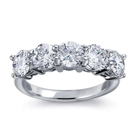 classic  stone diamond ring   white gold blue nile