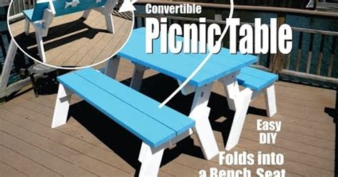 picnic table that folds into a bench how to make a diy convertible picnic table that folds into