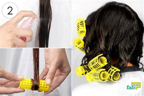 rolling up your hair in curls in preparation for an updo how to curl your hair with and without heat fab how