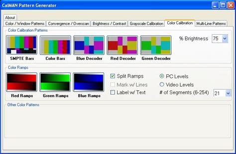 pattern generator online java calman htpc pattern generator information and download of