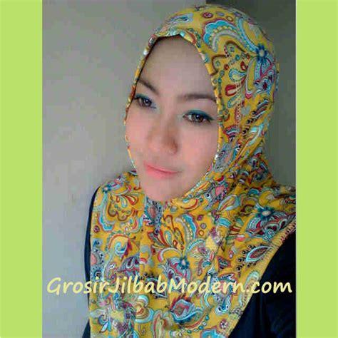 Longdres Maroko By Batik Fa jilbab syria batik modern kuning grosir jilbab modern