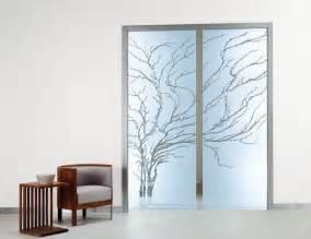 Furniture decorative glass insert door design