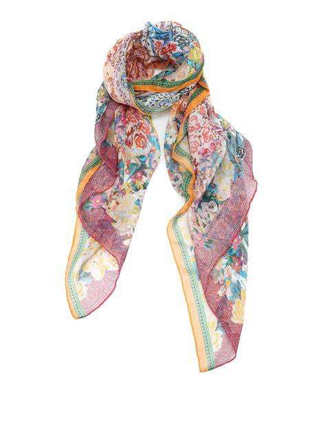 mesh work silk scarf by etro scarves ikrix