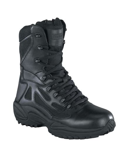 reebok rb8875 athletic tactical boot with zipper black