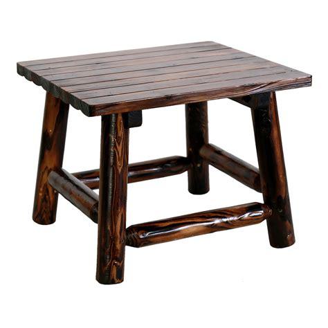 leigh country char log rectangle patio  table patio