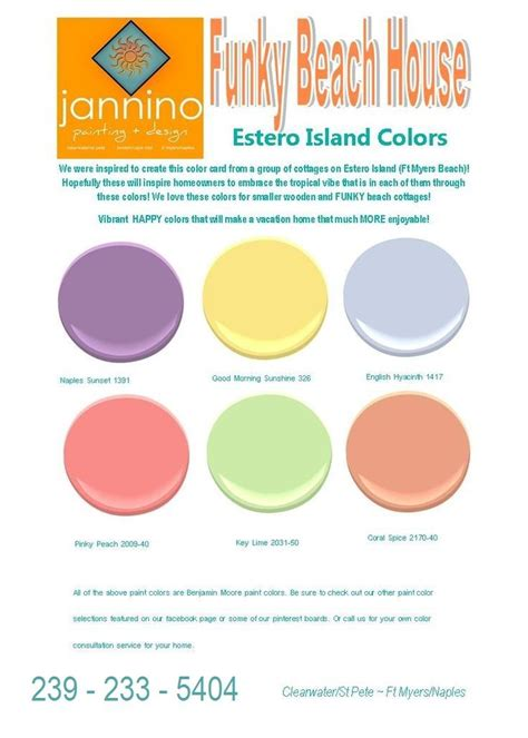 color wheel paint fort myers 58 best images about tropical benjamin colors on